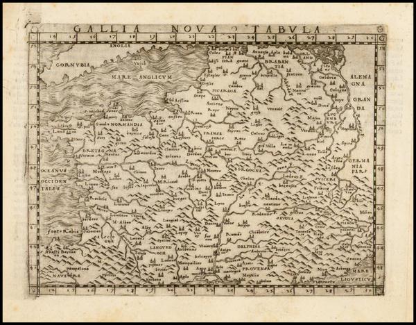 94-France Map By Giacomo Gastaldi
