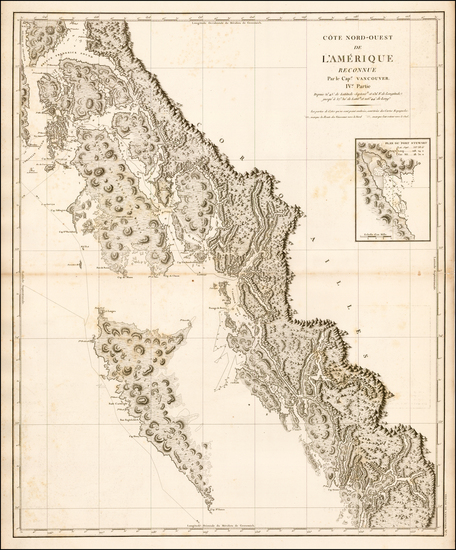 32-Alaska and Canada Map By George Vancouver