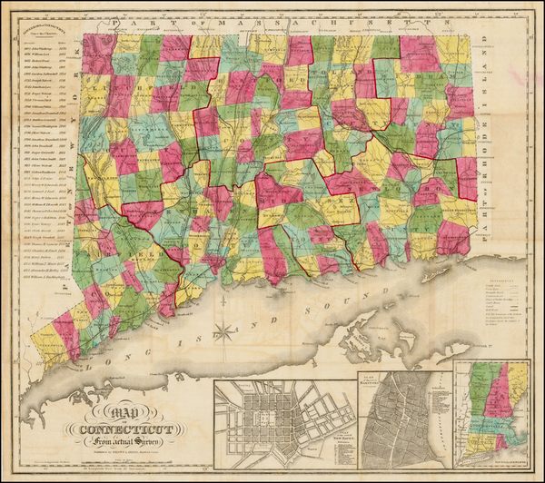 87-Connecticut Map By Brown & Gross