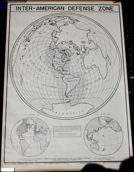 77-World, World, Polar Maps, South America, Asia, Asia, Pacific and America Map By Norman J. Padel