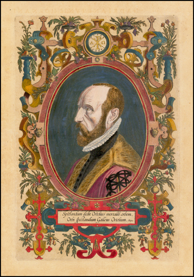 16-Portraits & People Map By Abraham Ortelius