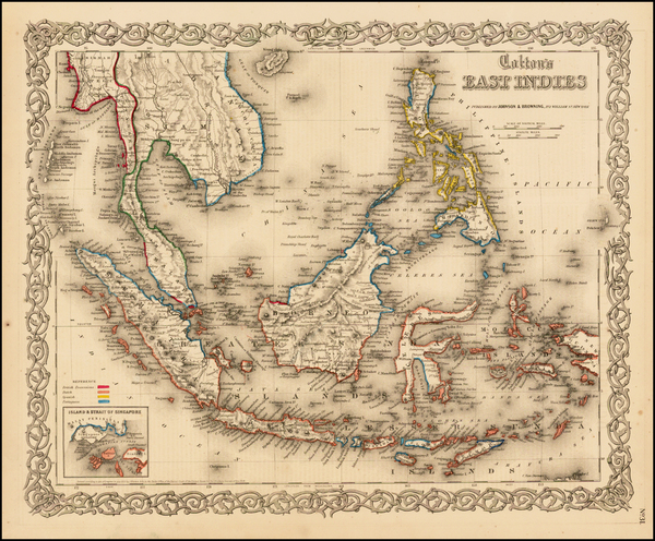 11-Southeast Asia, Philippines and Other Pacific Islands Map By Joseph Hutchins Colton
