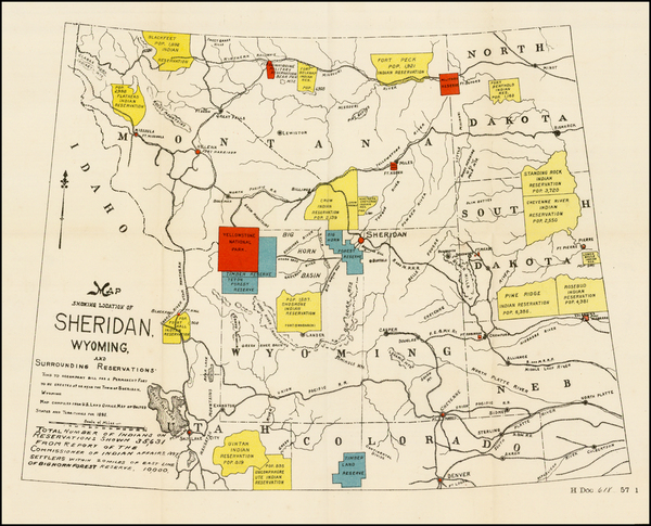 90-Plains, Rocky Mountains and Wyoming Map By United States GPO