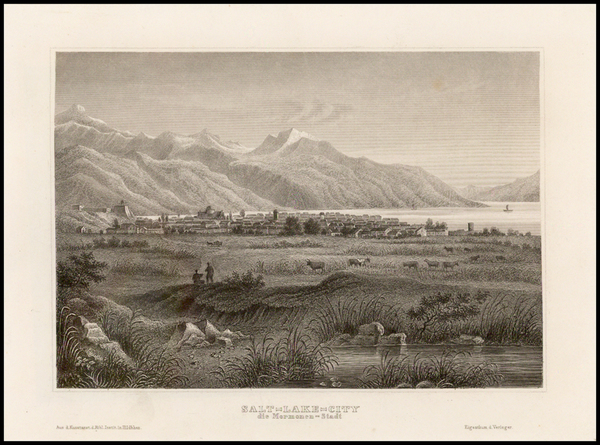 83-Southwest, Rocky Mountains and Utah Map By Bibliographische Institut