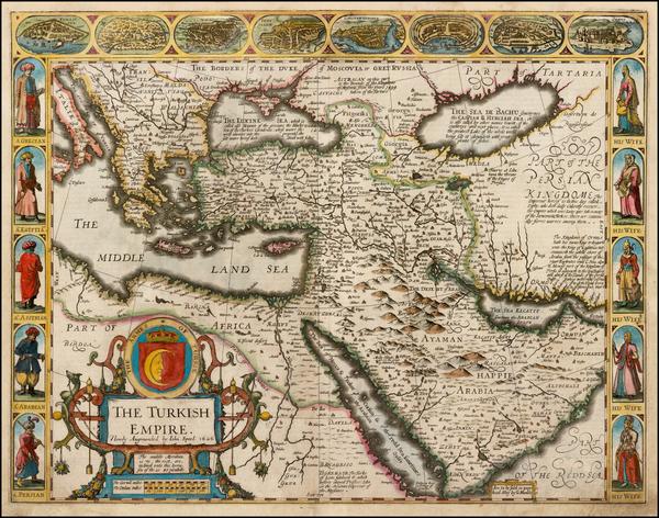 71-Russia, Ukraine, Turkey, Mediterranean, Middle East and Turkey & Asia Minor Map By John Spe