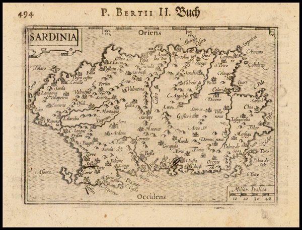 69-Italy and Sardinia Map By Barent Langenes