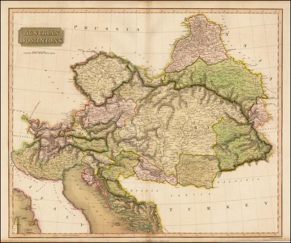 52-Austria, Hungary, Czech Republic & Slovakia, Balkans and Italy Map By John Thomson