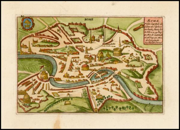 97-Italy Map By Daniel de La Feuille