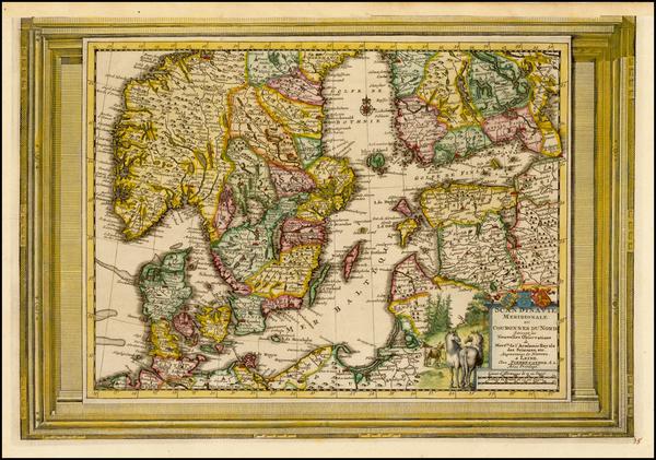 3-Baltic Countries and Scandinavia Map By Pieter van der Aa