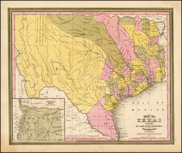 32-Texas Map By Henry Schenk Tanner