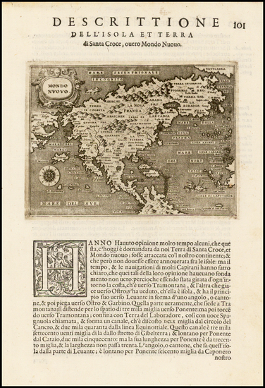 18-North America, Japan and Pacific Map By Tomasso Porcacchi