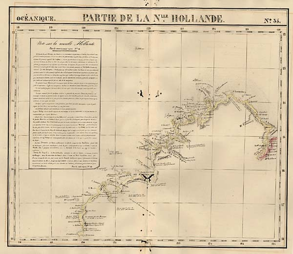85-Australia & Oceania, Australia and Other Pacific Islands Map By Philippe Marie Vandermaelen