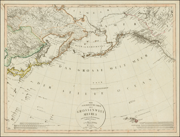 39-Polar Maps, Alaska, Canada, China, Japan, Korea, Pacific and Russia in Asia Map By Christian Go
