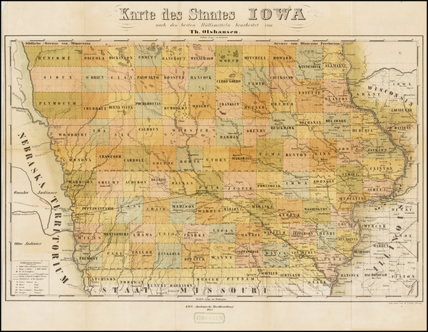 47-Iowa Map By Theodor Olshausen