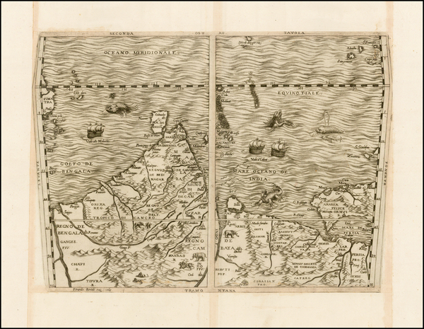 64-Indian Ocean, India, Other Islands, Central Asia & Caucasus and Middle East Map By Ferrando