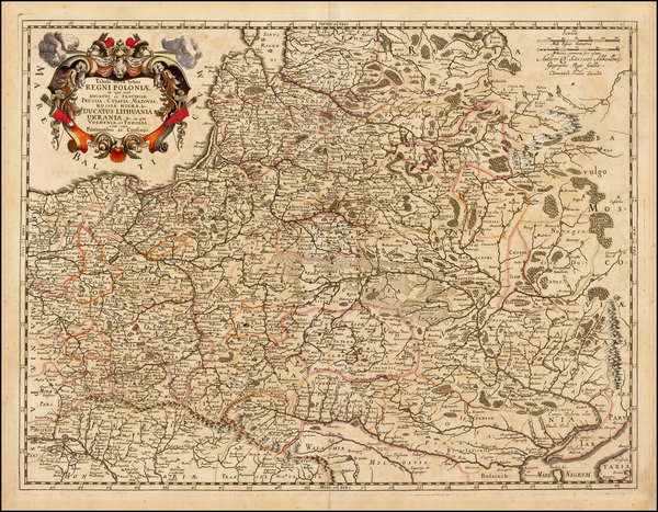 60-Poland, Russia, Ukraine and Baltic Countries Map By Clement de Jonghe