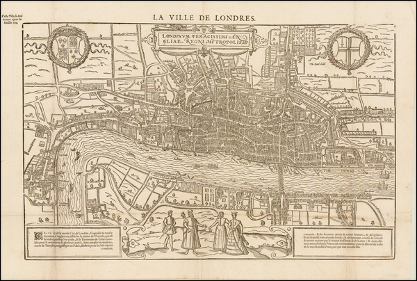 16-England and London Map By Francois De Belleforest