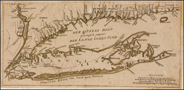 New England and New York State Map By Johann Carl Muller