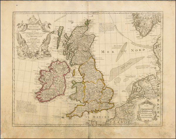 37-British Isles Map By Guillaume De L'Isle