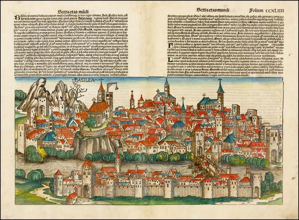 90-Switzerland Map By Hartmann Schedel