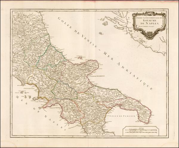 85-Italy Map By Didier Robert de Vaugondy