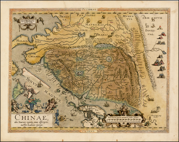 79-China, Japan, Southeast Asia and Philippines Map By Abraham Ortelius