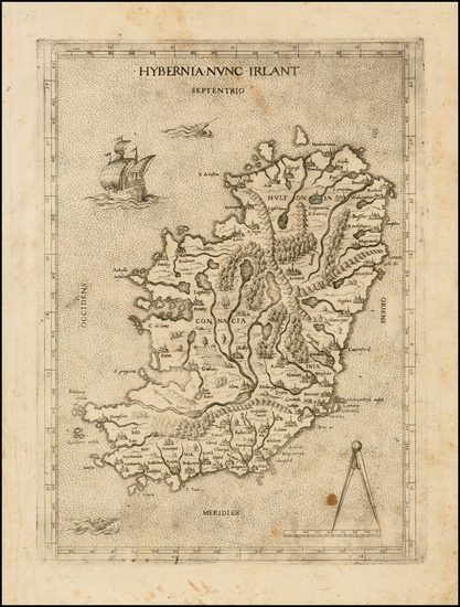 54-British Isles and Ireland Map By Lafreri School