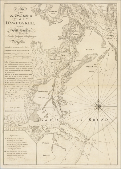 27-South Carolina Map By Thomas Jefferys  &  William Faden