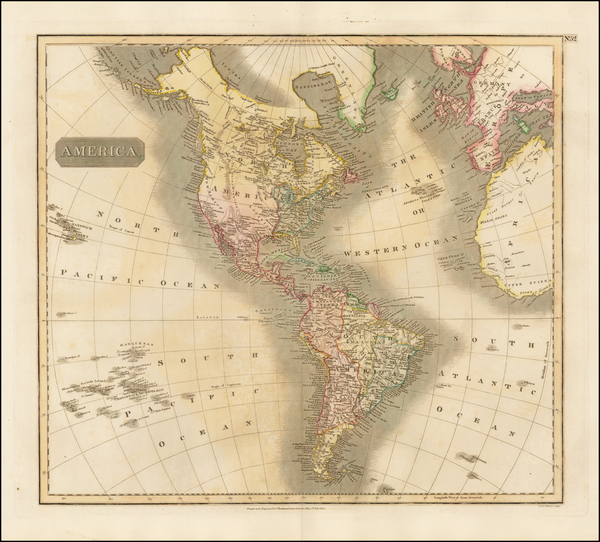 71-South America and America Map By John Thomson