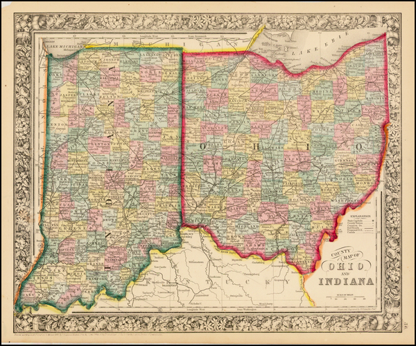 71-Midwest Map By Samuel Augustus Mitchell Jr.