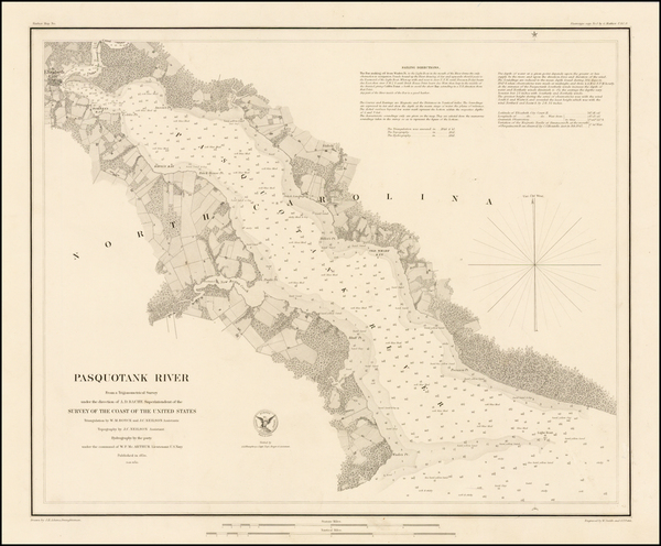 72-Southeast and North Carolina Map By United States Coast Survey