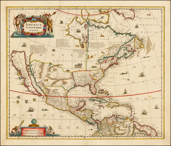 43-North America and California Map By Jan Jansson