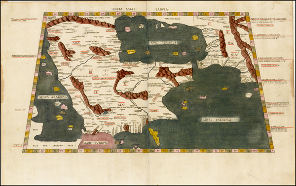 17-Middle East Map By Claudius Ptolemy