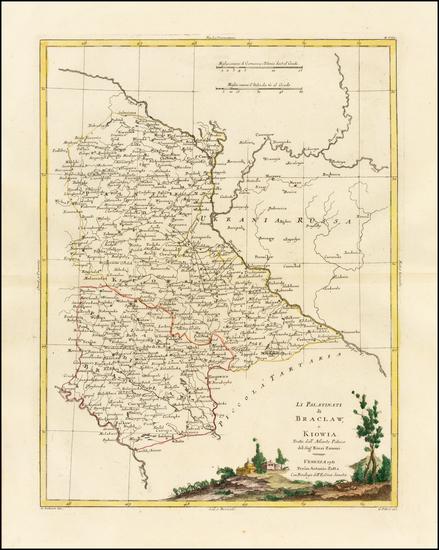 26-Poland and Ukraine Map By Antonio Zatta