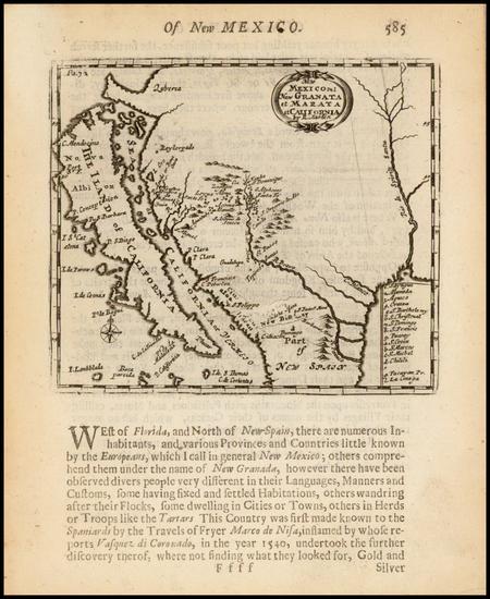 70-Texas, Southwest, Mexico and California Map By Robert Morden