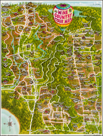55-California Map By Ron Morales