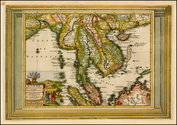 69-Southeast Asia, Indonesia and Malaysia Map By Pieter van der Aa