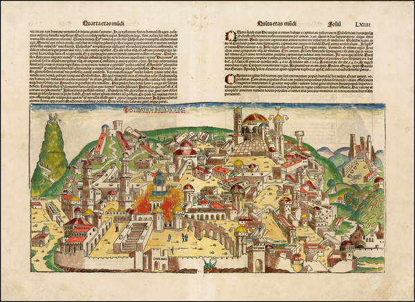 24-Holy Land Map By Hartmann Schedel