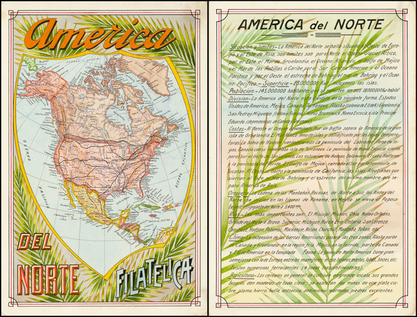81-United States and North America Map By Antonio F. Raggio