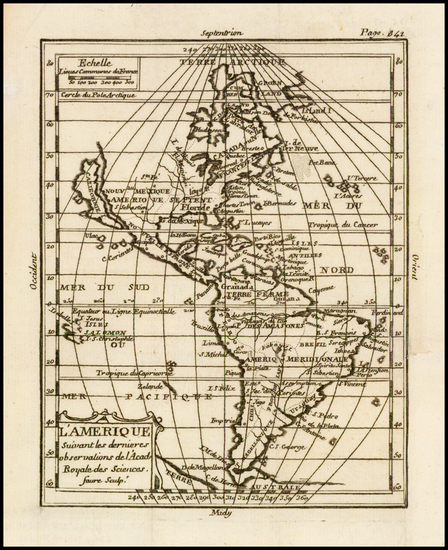 47-South America and America Map By Claude Buffier