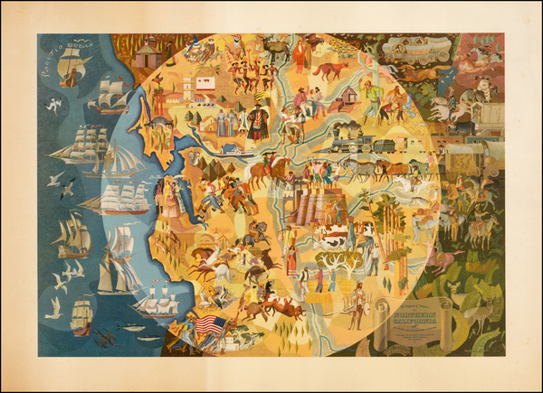 65-Pictorial Maps and California Map By Michael Shute