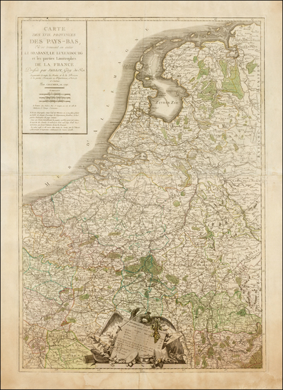 Netherlands Map By C.J.  Chaumier