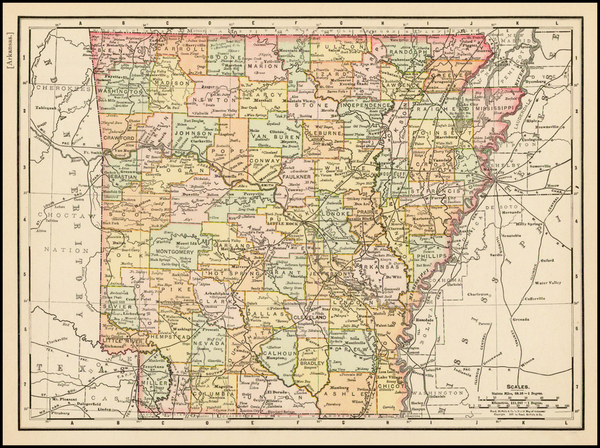 91-South and Arkansas Map By Rand McNally & Company