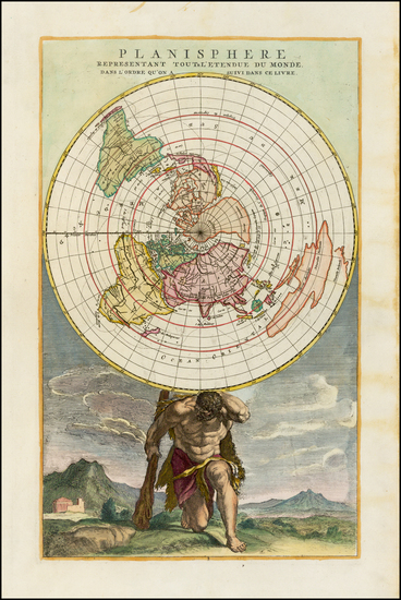 34-World, World, Northern Hemisphere and Polar Maps Map By Jan Barend Elwe