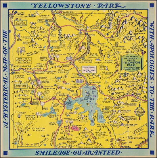 86-Rocky Mountains and Wyoming Map By Lindgren Brothers