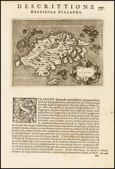 15-Iceland and Balearic Islands Map By Tomasso Porcacchi