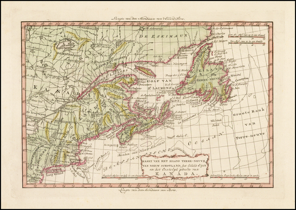 94-New England, Canada and Eastern Canada Map By Willem Albert Bachienne