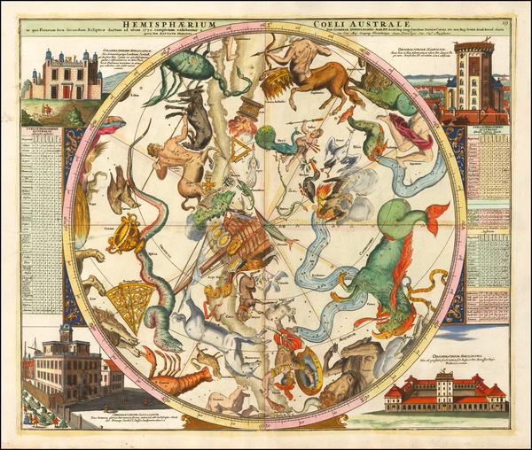 39-Celestial Maps Map By Johann Gabriele Doppelmayr