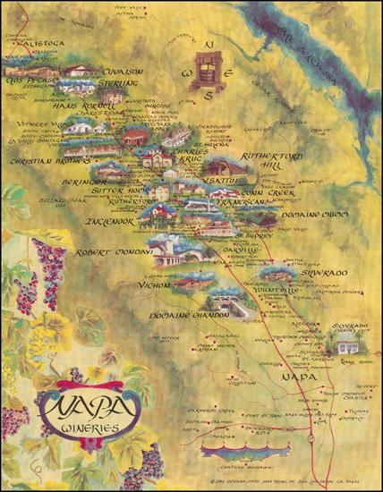 95-California Map By Oceana Maps