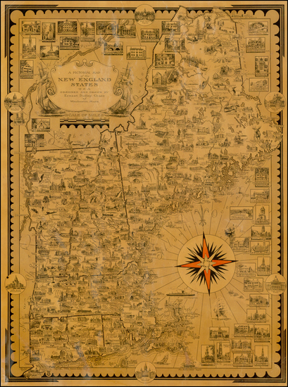 New England and Pictorial Maps Map By Ernest Dudley Chase